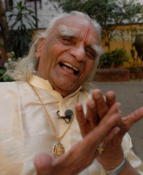 B.K.S. Iyengar still from the filming of Sadhaka.