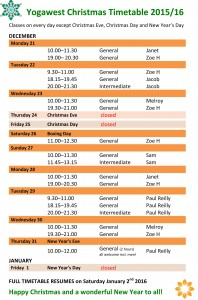 xmas hols timetable 2015 WORD FINAL